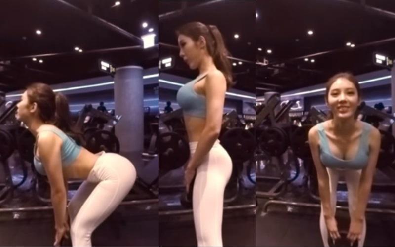 這段正妹教健身的360度影片爆紅,因為只要滑動一下屏幕就會發現....